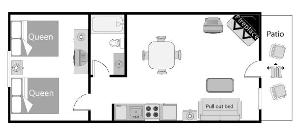 Deluxe One Bedroom 2 Queen