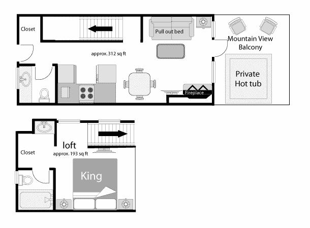 King Condo Floor Plan